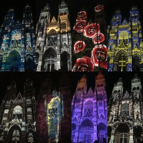 Photos : les illuminations de la cathédrale Saint-Gatien de Tours par Damien Fontaine - ©Chloé Chateau